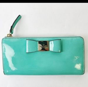 Kate spade turquoise wallet